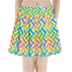 Abstract Pattern Colorful Wallpaper Background Pleated Mini Skirt