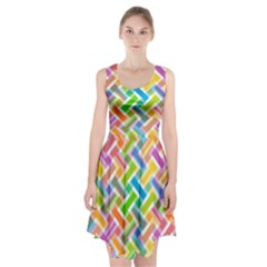 Abstract Pattern Colorful Wallpaper Background Racerback Midi Dress