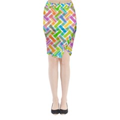 Abstract Pattern Colorful Wallpaper Background Midi Wrap Pencil Skirt