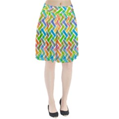 Abstract Pattern Colorful Wallpaper Background Pleated Skirt
