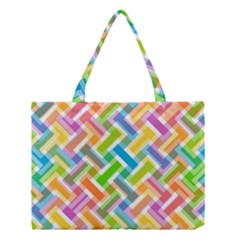 Abstract Pattern Colorful Wallpaper Background Medium Tote Bag