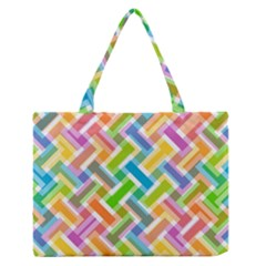 Abstract Pattern Colorful Wallpaper Background Medium Zipper Tote Bag