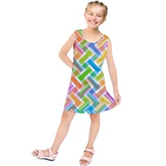 Abstract Pattern Colorful Wallpaper Background Kids  Tunic Dress