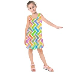Abstract Pattern Colorful Wallpaper Background Kids  Sleeveless Dress
