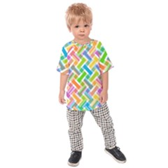Abstract Pattern Colorful Wallpaper Background Kids  Raglan Tee