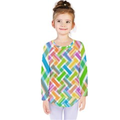 Abstract Pattern Colorful Wallpaper Background Kids  Long Sleeve Tee
