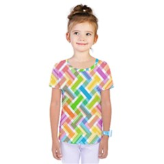 Abstract Pattern Colorful Wallpaper Background Kids  One Piece Tee