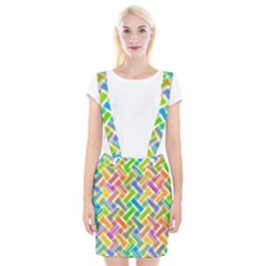 Abstract Pattern Colorful Wallpaper Background Suspender Skirt