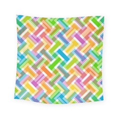 Abstract Pattern Colorful Wallpaper Background Square Tapestry (Small)