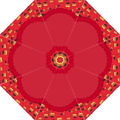 Floral Roses Pattern Background Seamless Straight Umbrellas by Simbadda