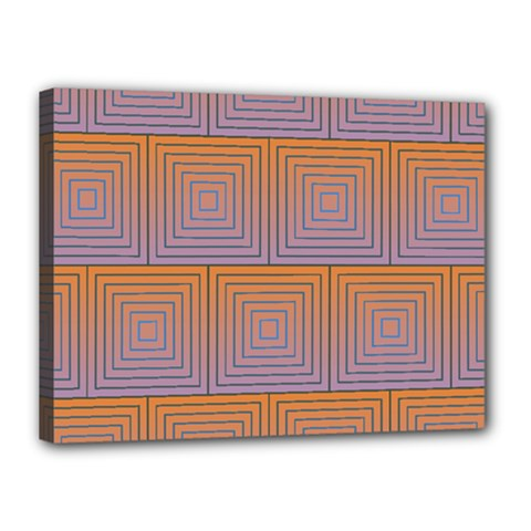 Brick Wall Squared Concentric Squares Canvas 16  X 12  by Simbadda