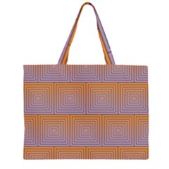 Brick Wall Squared Concentric Squares Zipper Large Tote Bag by Simbadda