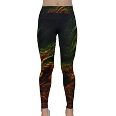 Abstract Glowing Edges Classic Yoga Leggings by Simbadda
