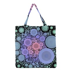 An Abstract Background Consisting Of Pastel Colored Circle Grocery Tote Bag by Simbadda