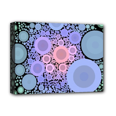 An Abstract Background Consisting Of Pastel Colored Circle Deluxe Canvas 16  X 12   by Simbadda