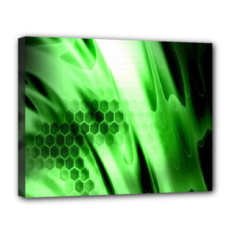 Abstract Background Green Canvas 14  X 11  by Simbadda