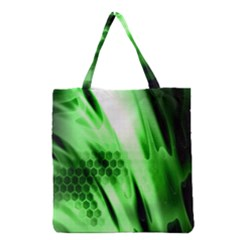 Abstract Background Green Grocery Tote Bag by Simbadda