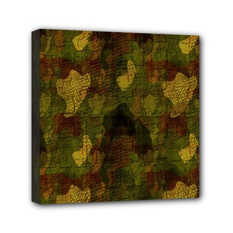 Textured Camo Mini Canvas 6  X 6  by Simbadda