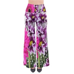 Purple White Flower Bouquet Pants by Simbadda
