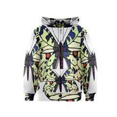 A Colorful Butterfly Image Kids  Zipper Hoodie