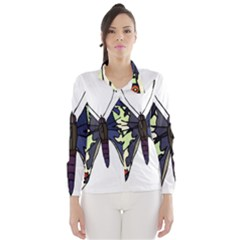 A Colorful Butterfly Image Wind Breaker (women) by Simbadda