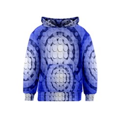 Abstract Background Blue Created With Layers Kids  Pullover Hoodie