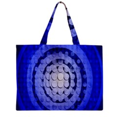 Abstract Background Blue Created With Layers Zipper Mini Tote Bag by Simbadda