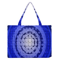 Abstract Background Blue Created With Layers Medium Zipper Tote Bag