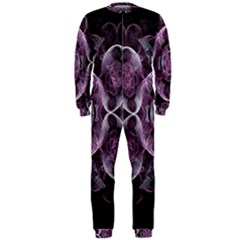 Fractal In Lovely Swirls Of Purple And Blue Onepiece Jumpsuit (men)