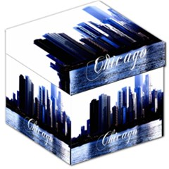 Abstract Of Downtown Chicago Effects Storage Stool 12   by Simbadda