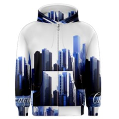 Abstract Of Downtown Chicago Effects Men s Zipper Hoodie by Simbadda