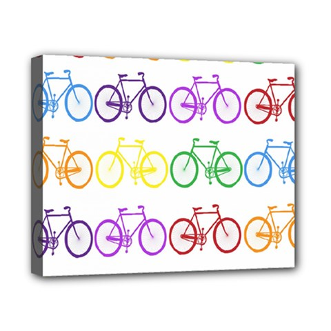 Rainbow Colors Bright Colorful Bicycles Wallpaper Background Canvas 10  X 8  by Simbadda