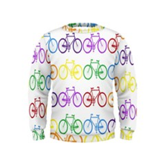 Rainbow Colors Bright Colorful Bicycles Wallpaper Background Kids  Sweatshirt