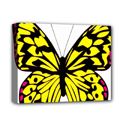 Yellow A Colorful Butterfly Image Deluxe Canvas 14  X 11  by Simbadda