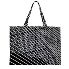 Abstract Architecture Pattern Zipper Large Tote Bag by Simbadda