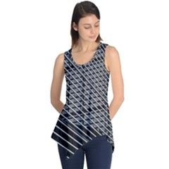 Abstract Architecture Pattern Sleeveless Tunic by Simbadda