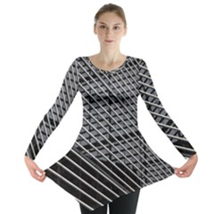 Abstract Architecture Pattern Long Sleeve Tunic  by Simbadda