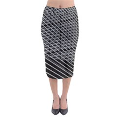 Abstract Architecture Pattern Midi Pencil Skirt by Simbadda