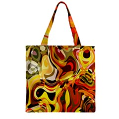 Colourful Abstract Background Design Zipper Grocery Tote Bag by Simbadda