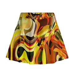 Colourful Abstract Background Design Mini Flare Skirt by Simbadda