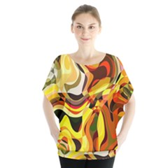 Colourful Abstract Background Design Blouse by Simbadda