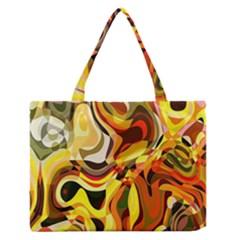 Colourful Abstract Background Design Medium Zipper Tote Bag by Simbadda