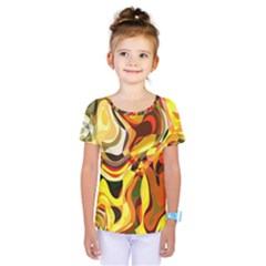 Colourful Abstract Background Design Kids  One Piece Tee by Simbadda