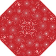 Floral Spirals Wallpaper Background Red Pattern Straight Umbrellas by Simbadda