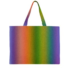 Colorful Stipple Effect Wallpaper Background Zipper Large Tote Bag by Simbadda