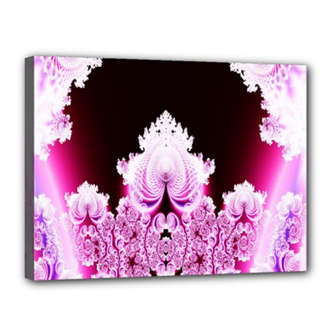 Fractal In Pink Lovely Canvas 16  X 12