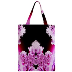 Fractal In Pink Lovely Zipper Classic Tote Bag by Simbadda