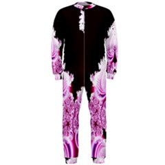 Fractal In Pink Lovely Onepiece Jumpsuit (men)  by Simbadda