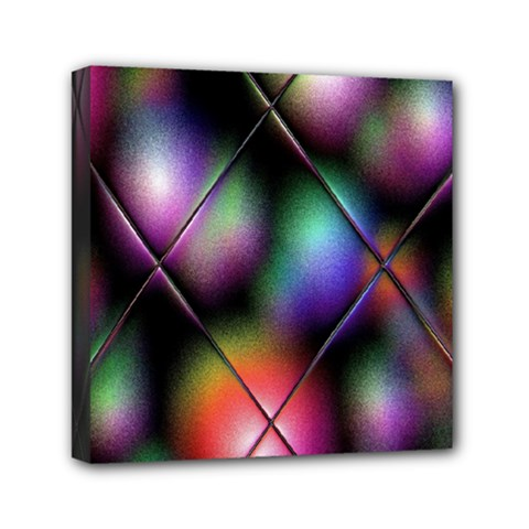 Soft Balls In Color Behind Glass Tile Mini Canvas 6  X 6  by Simbadda