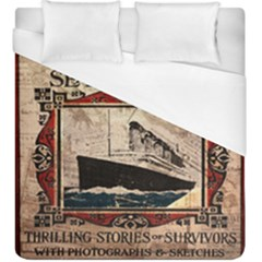 Titanic Duvet Cover (king Size) by Valentinaart